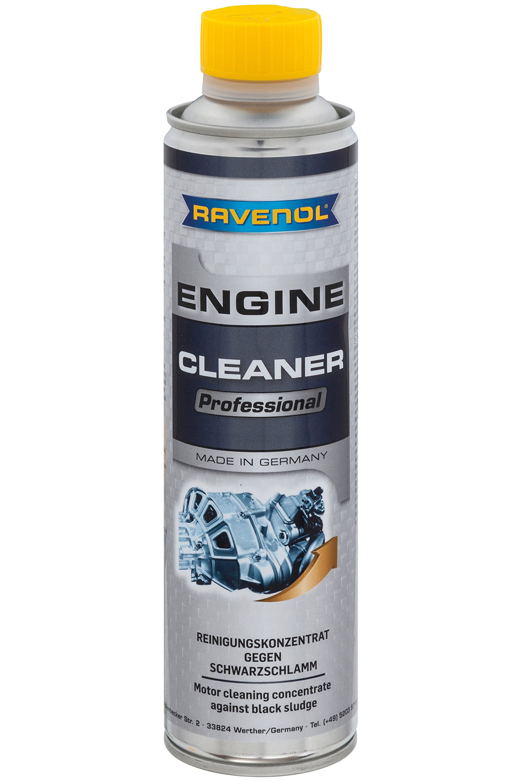 RAVENOL J8A0101-400 Professional Engine Cleaner - Engine Oil System Cleaning and Flush Treatment (400 ml)