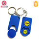 euro shopping plastic trolley coin keychain shopping cart coin keychain