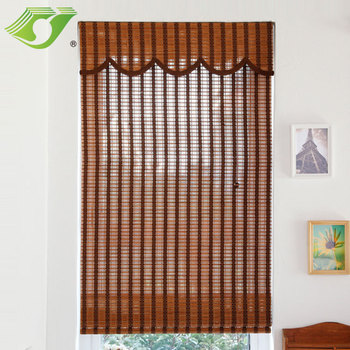Classic style manual roman shades bamboo roller blinds