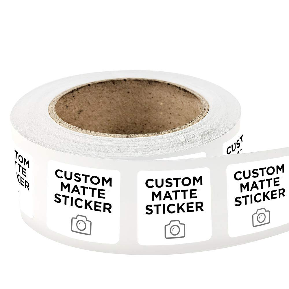 Get quotations · 500 square custom matte roll label stickers 3 x 3 for products packaging