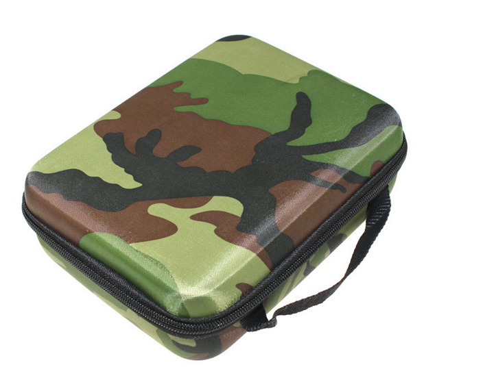 HSU Small Size Travel Portable Camouflage Shockproof EVA Protective Camera Bag Case for Gopro Hero5/4+/4/3/2/1