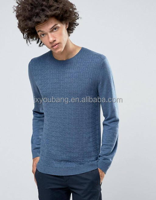 Cable Sweater in Merino Wool Mix Textured knit