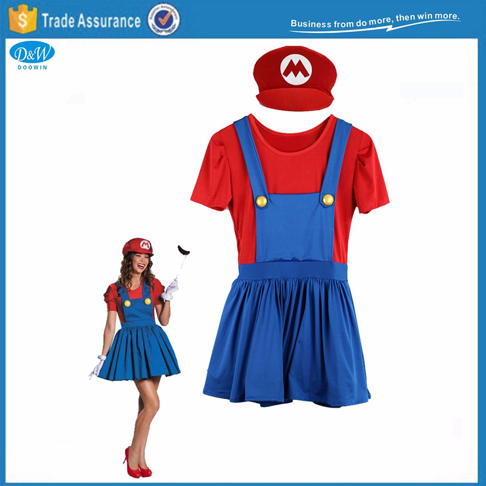 Partito Vestito E Di Halloween Coppie Luigi Operai Super Mario rwRCq4xrY
