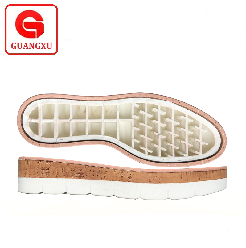 shoe double color pu platform soles design ladies