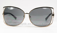 stainless steel optical quality fashion sunglasses with crystal diamond