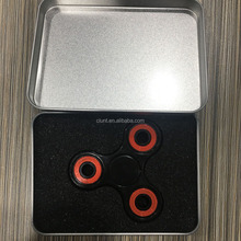 Finger Spinner EDC Hand Spinner Spin Toy ABS Plastic Custom Bearing Fidget Toy with Metal box package