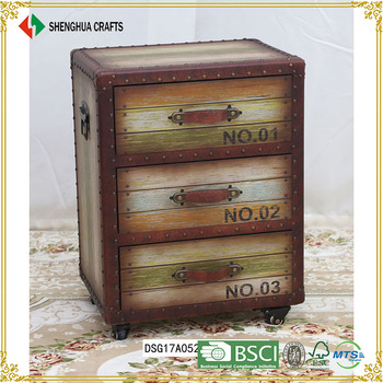 Whole Wooden Shallow Chest Of Drawers With Cabinets