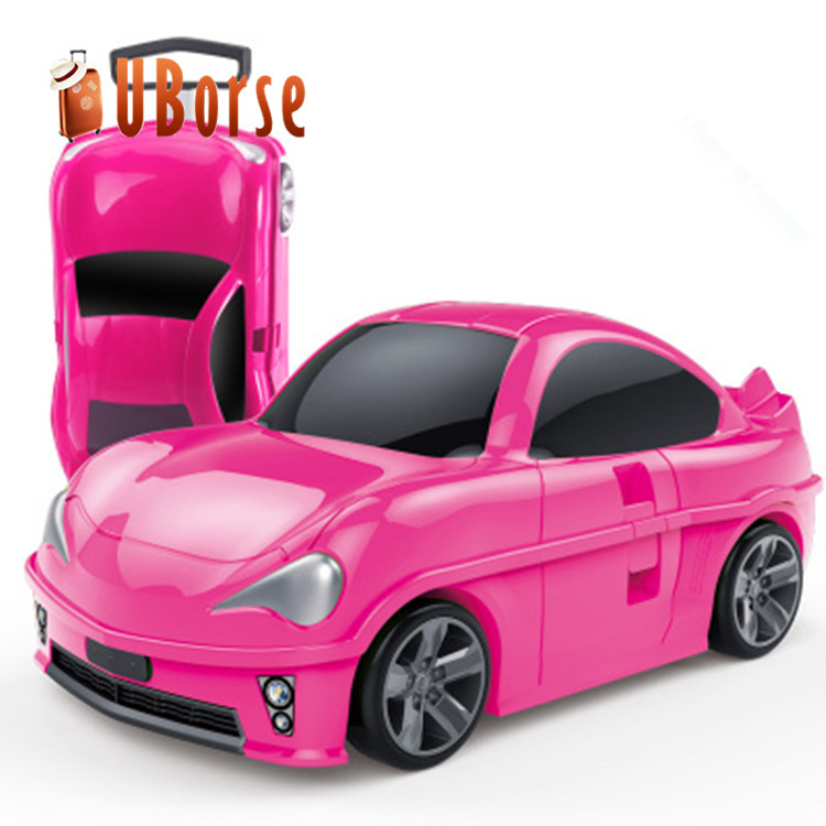 New design car shaped kids trolley luggage bags children suitcase for travel