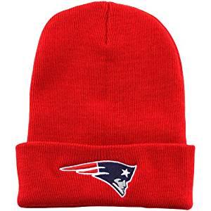 NFL New England Patriots Cuffed Gridiron Knit Beanie - Red