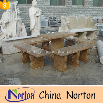 Marble Table And Chair Round Marble Slab Table Top House Garden Decoration  NTS B088R