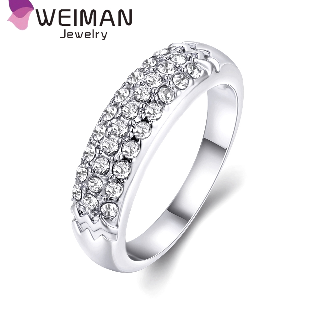 Hot sale gold plated zircon ring,trendy brass ring jewelry