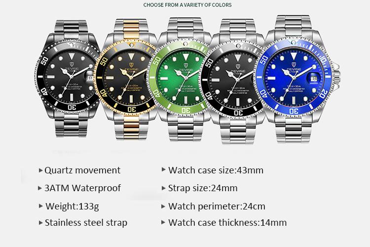 b036a34b8c3e TEVISE Relogio Masculino relojes de hombres famosa marca casuales de la  moda de los hombres reloj