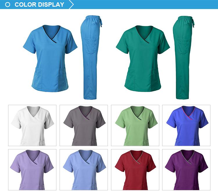 Commercio all'ingrosso Naturale Uniformi Europa infermiere uniforme ospedale scrubs uniformi mediche