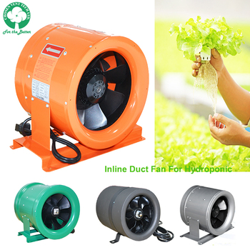 Greenhouse hydroponic duct inline fan
