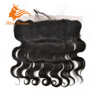 Free Parting Virgin Hair Body Wave Lace Front Brazilian Hair Closure Bleached Knots 13*4 Size Lace Frontals With Baby Hair