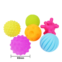 4 or 6Pcs New Textured Multi Ball Set Develop Baby Tactile Senses Toy Baby Touch Hand Ball Toys Baby Training Colorful Soft Ball