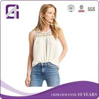 2018 spring street style short sleeve white long sleeve silk blouses for wholesale