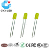 China LED manufacturer yellow green 5mm light emitting diode price