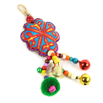 how to make embroidered key chains
