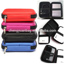 Portable cell phone powerbank case with custom hard disk carrying case