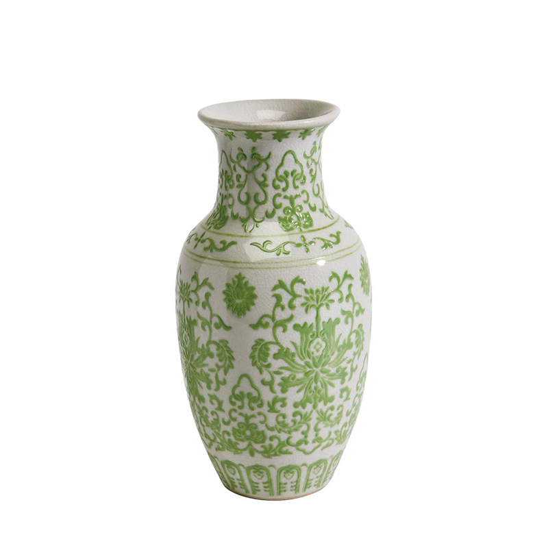Popular verde bens home vaso de porcelana decorativa
