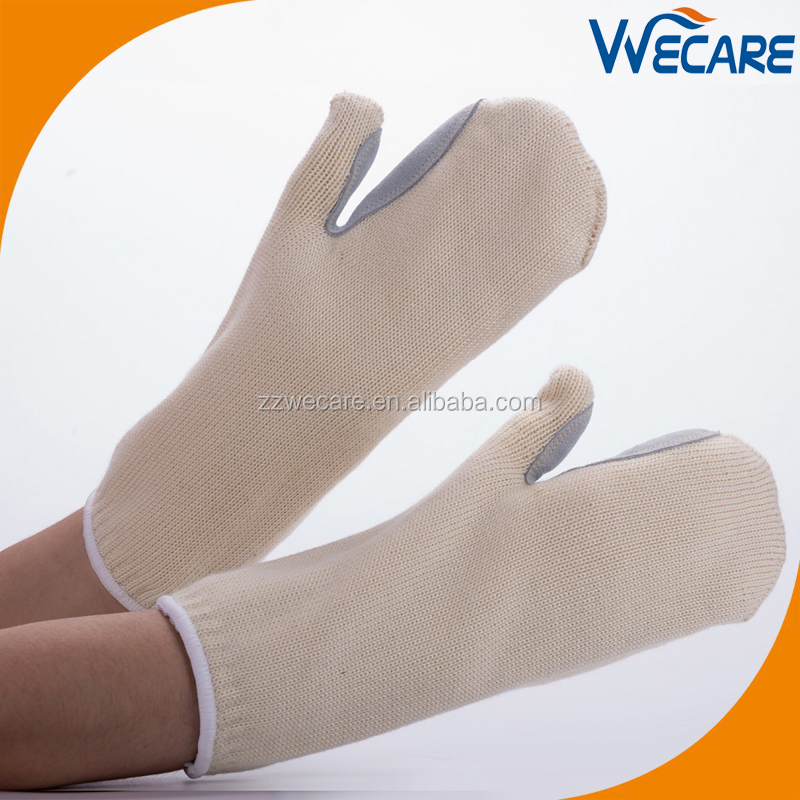 Heavy Duty Oven Gloves Oven Mitts Manufacture 932F High Temp Gloves With Leather Patch For Welders