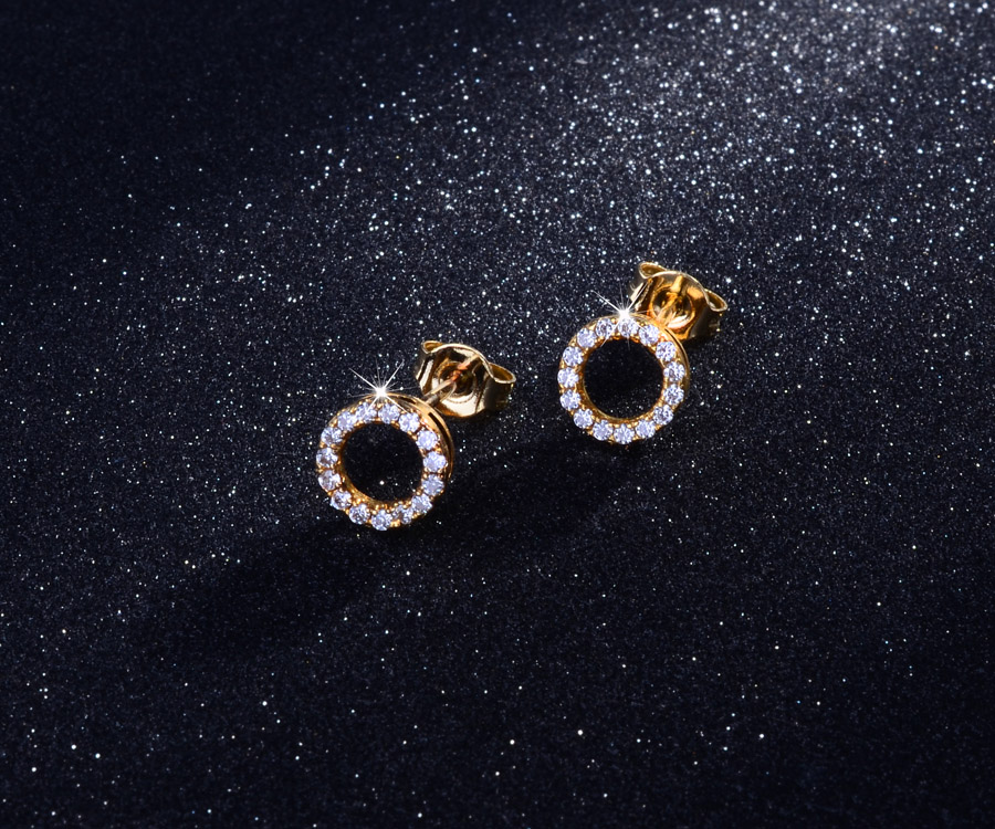 2017 Dubai Gold Jewelry Earring Simple Gold Earring Designs For