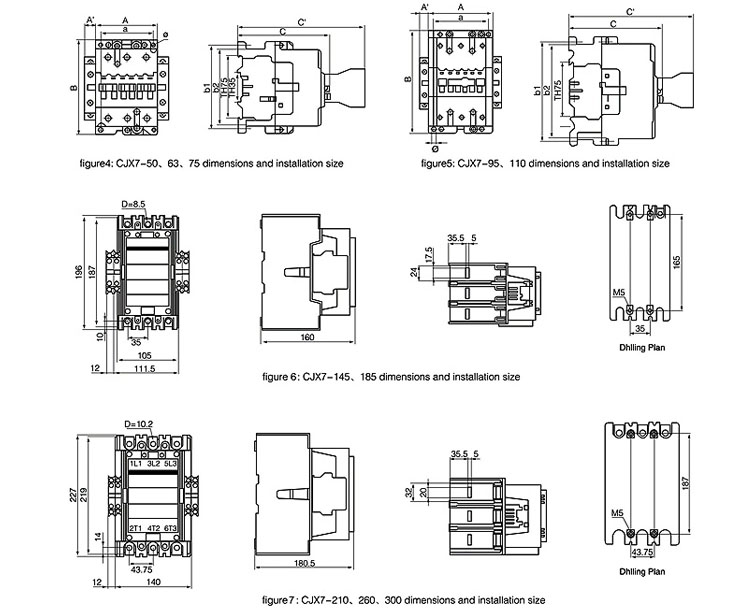 CJX7 Types 3 Phase Electrical Contactor