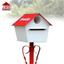 JHC-12102 house letter post box/ red post mailbox/ santa mailbox