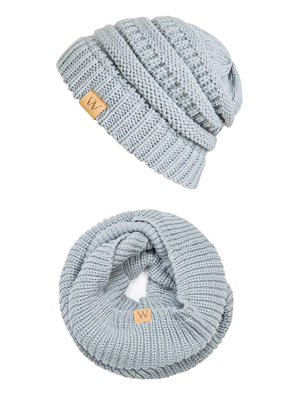 8935fc012869d Get Quotations · EVRFELAN Winter Warm Beanie Scarf Set Women - Knit  Infinity Loop Scarf and Hat Sets for
