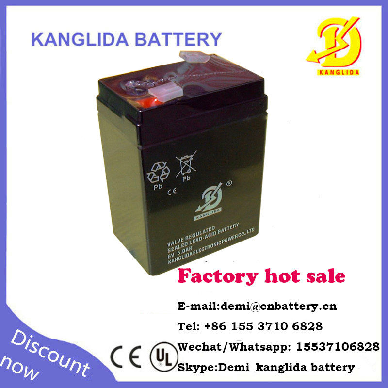 kanglida maintenance-free storage 6v battery weighting balance, speaker, LED light, toy car, alarm UPS