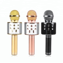 Latest High Quality Karaoke Ktv Wireless Microphone Wireless Mini Portable Speaker For Outdoor Music Party