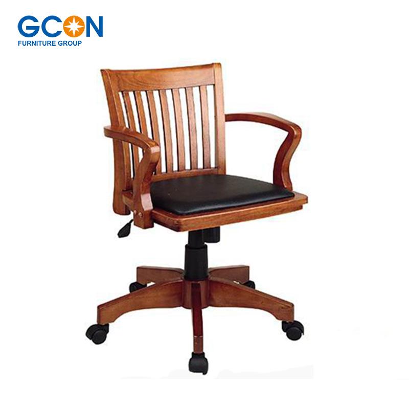 silla de oficina vintage madera