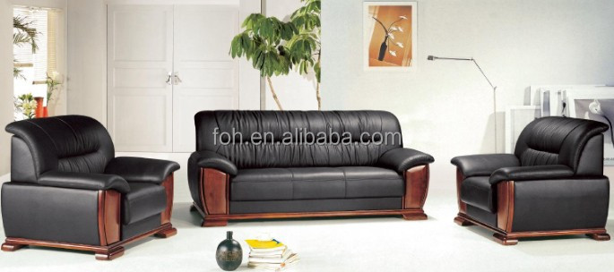 Luxury living room sofas, office waiting room sofa set(FOH-6635)