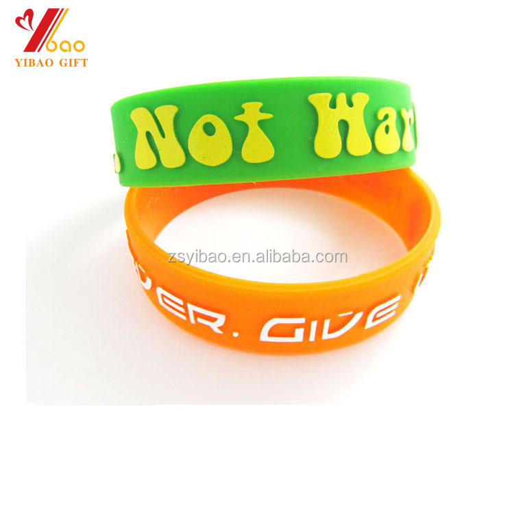 Wholesale cheap hot sale custom printing silicone sports bracelets