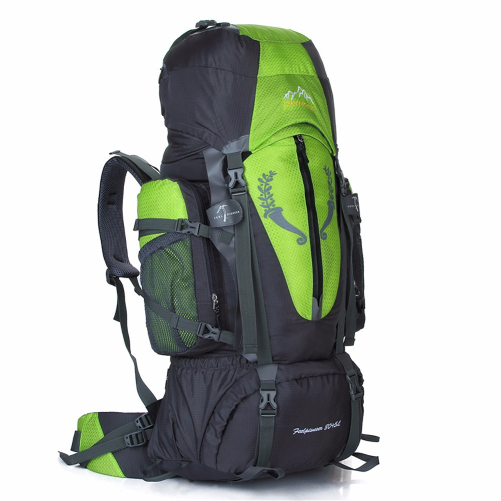 Climbing Bag 85L Mochilas Proteccion De Agua Camping Backpack MTB Outdoor Hiking Climbing Bags Large Mountaineering Travel Bags