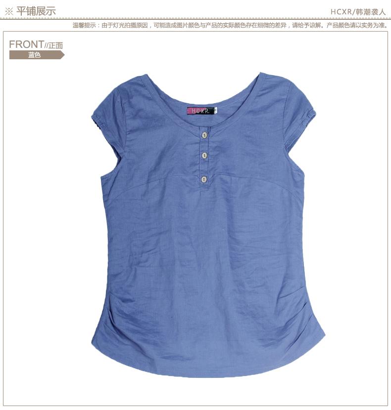 S-xxxl короткий рукав свободного покроя t - рубашки женщины лето blusas хлопок лён трикотаж пуговица t рубашка тис верхний