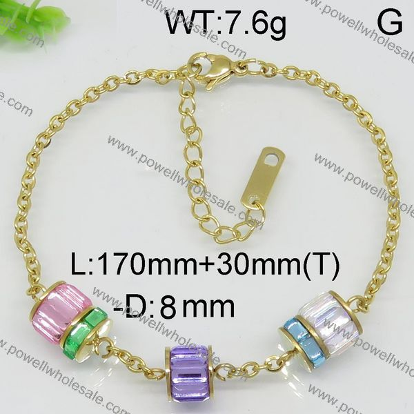 New arrival stainless steel womens gold plated bracelets