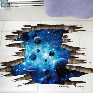 Decorative removable 3d universe adhesive wall stickers