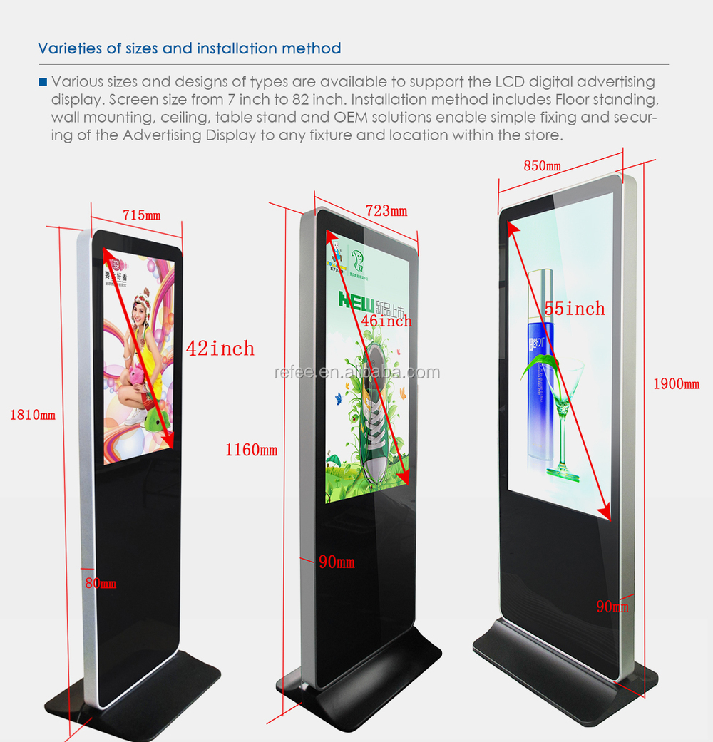 Digital Signage For Exhibition Hall Stadiums Banking 55