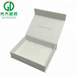 White carton gift box with customized shape