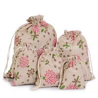 Wholesale promotional cloth gift bag packaging jewelry flowers fashion cotton drawstring tea bag