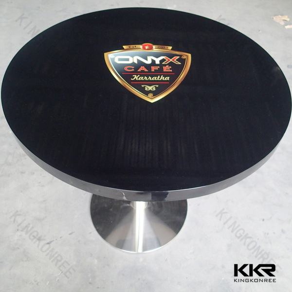 articicial stone round quartz dining table top