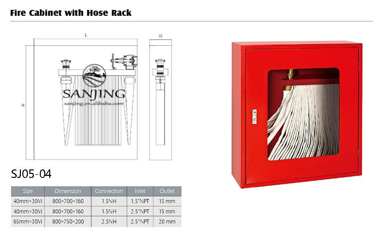 Supplying Various Types Fire Hose Reel Cabinet Wall