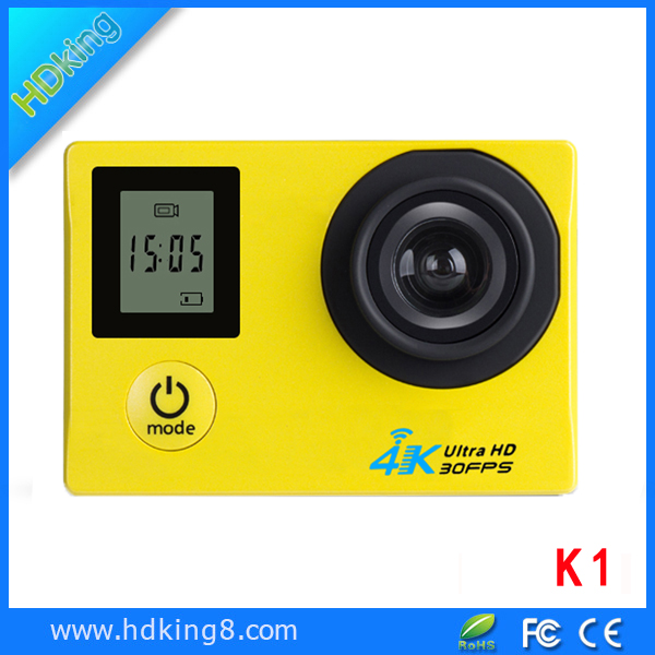 HDKING Newest coming show power battery capacity action camera 4k wifi