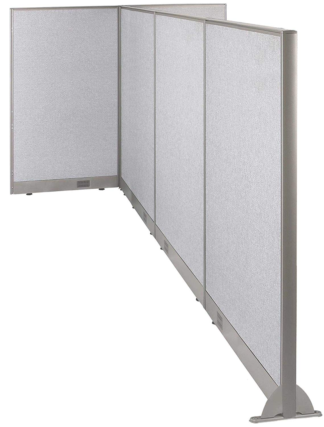 GOF T-Shaped Freestanding Partition 120d x 60w x 48h/ Office, Room Divider … (120d x 60w x 60h)