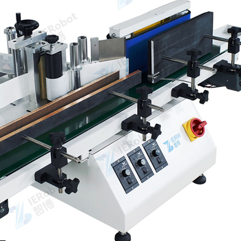 fully automatic Desktop small automatic labeling machine for round bottles sleeve labeling applicator