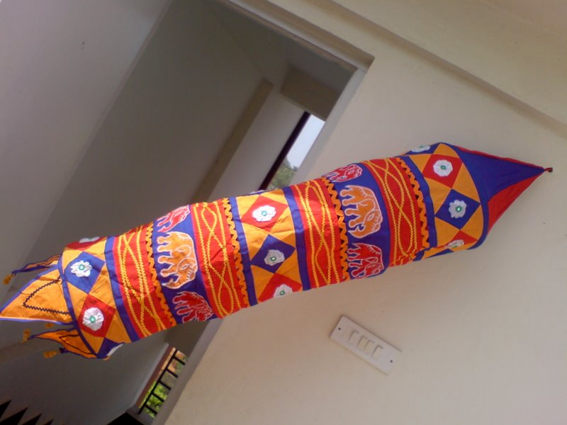 Lamp Shade With Applique Work From India