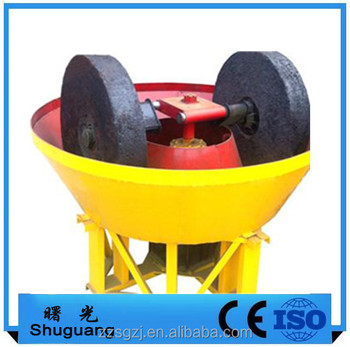 Double roller wet pan gold mill floating round grinding machine
