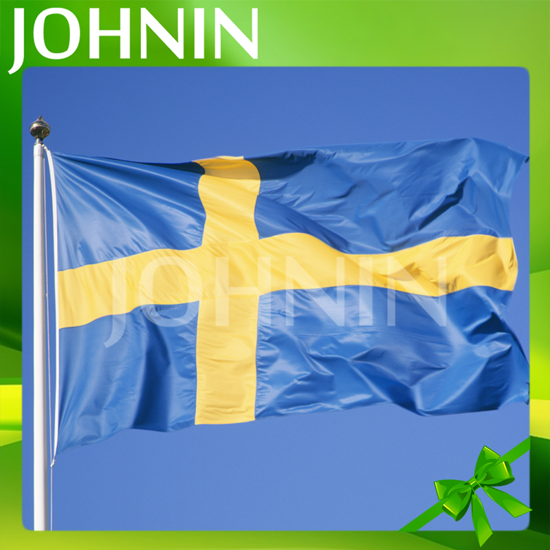 Factory Supply Durable 3x5 Ft Flying Swedish Flag National